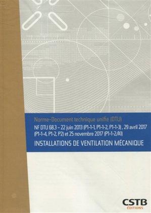 Installations de ventilation mécanique - cstb - 3260050851626 -