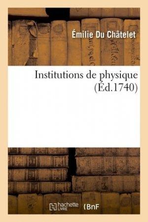 Institutions de physique (Ed. 1740) - Hachette/BnF - 9782012556768 -