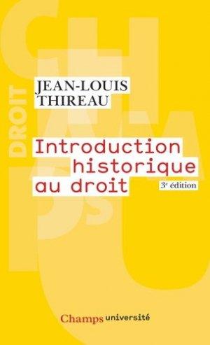 Introduction historique au droit. 3e édition - Flammarion - 9782081228993 -