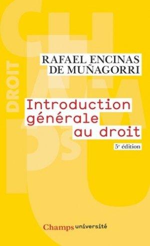Introduction générale au droit. 5e édition - Flammarion - 9782081486959 -