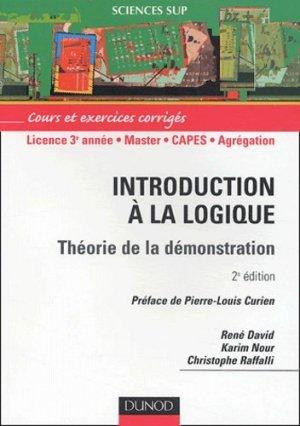 Introduction à la logique Théorie de la démonstration - dunod - 9782100067961 -