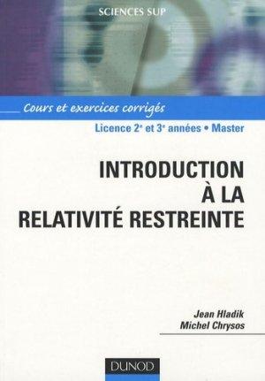 Introduction à la relativité restreinte - dunod - 9782100508594 -