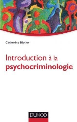 Introduction à la psychocriminologie - dunod - 9782100712892 -