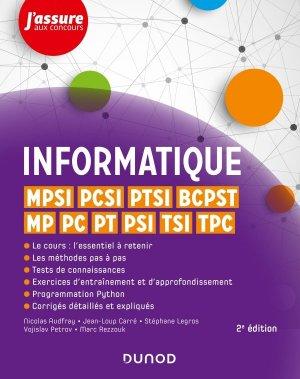 Informatique - MPSI, PCSI, PTSI, BCPST, MP, PC, PT, PSI, TSI, TPC - 2e éd. - dunod - 9782100790395 -
