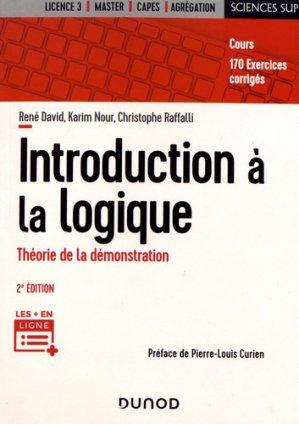 Introduction à la logique - dunod - 9782100806324 -