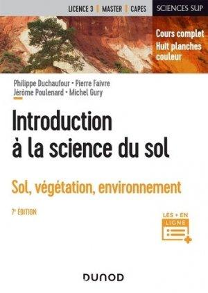 Introduction à la science du sol - Dunod - 9782100819928 -