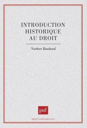 Introduction historique au droit - puf - 9782130496229 -