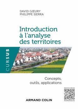 Introduction à l'analyse des territoires - armand colin - 9782200293024 -
