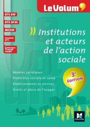 Institutions et acteurs de l'action sociale - foucher - 9782216133819 -