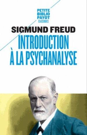 Introduction à la psychanalyse - payot - 9782228913461 -