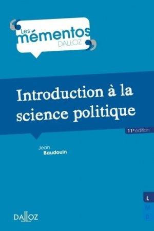 Introduction à la science politique. 11e édition - dalloz - 9782247170418 -