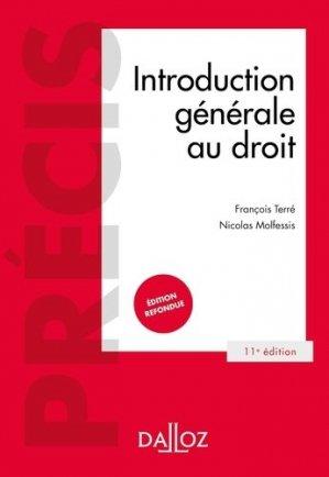 Introduction générale au droit. 11e édition - dalloz - 9782247189601 -