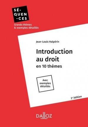 Introduction au droit. 2e édition - dalloz - 9782247189649 -