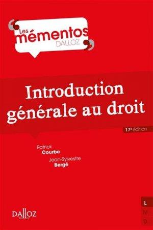 Introduction générale au droit - dalloz - 9782247207558 -
