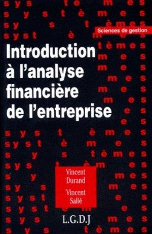 Introduction à l'analyse financière de l'entreprise - LGDJ - 9782275001432 -
