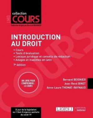 Introduction au droit, 7eme ed - LGDJ - 9782275074030 -