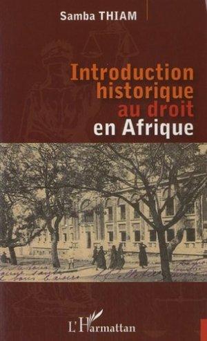 Introduction historique au droit en Afrique - l'harmattan - 9782296551077 -