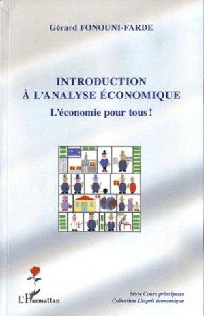 Introduction à l'analyse économique - l'harmattan - 9782296564275 -