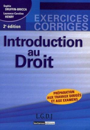 Introduction au droit. Préparation aux travaux dirigés et aux examens, 2e édition - gualino - 9782297010597 -