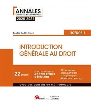 Introduction générale au droit - gualino - 9782297091251 -