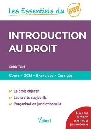 Introduction au droit - Vuibert - 9782311404777 -