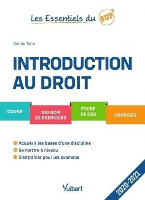 Introduction au droit - vuibert - 9782311408171 -