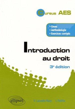 Introduction au droit. 3e édition - Ellipses - 9782340011199 -