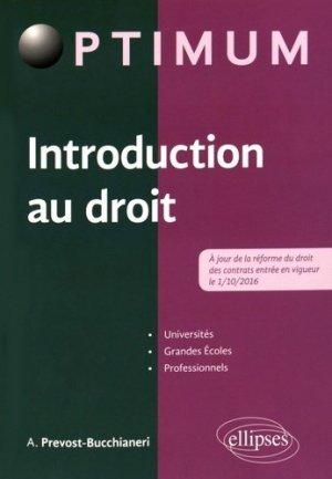 Introduction au droit - Ellipses - 9782340015500 -