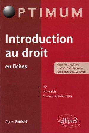 Introduction au droit en fiches - Ellipses - 9782340017177 -