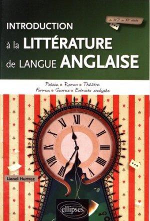 Introduction à la littérature de langue anglaise - Ellipses - 9782340017344 -