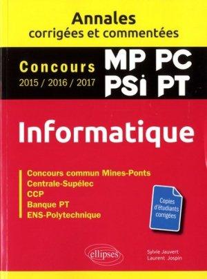 Informatique MP, PC, PSI, PT - ellipses - 9782340019980 -