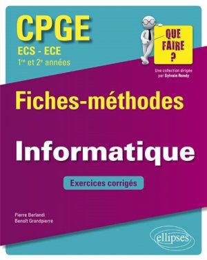 Informatique Fiches-méthodes et exercices corrigés - ellipses - 9782340026896 -
