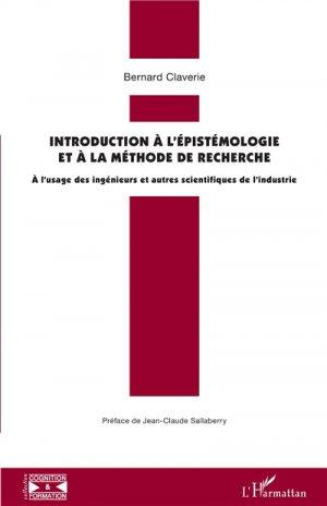Introduction à l'épistémologie et à la méthode de recherche - l'harmattan - 9782343175676 -