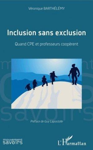 Inclusion sans exclusion - l'harmattan - 9782343195193 -