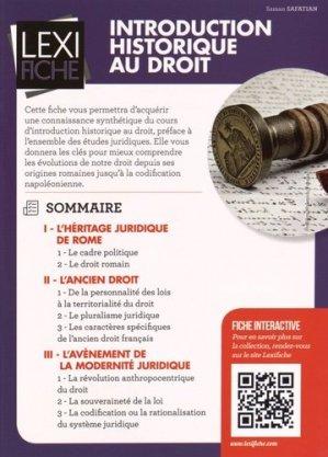 Introduction historique au droit - enrick b - 9782356441119 -