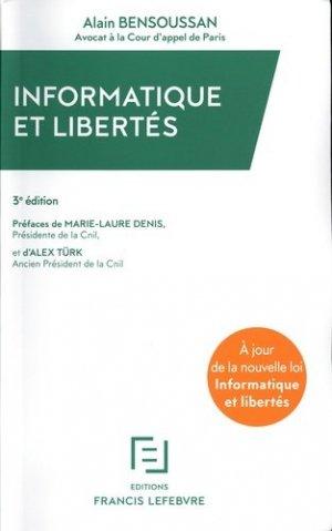 Informatique et libertés. 3e édition - Francis Lefebvre - 9782368934661 -