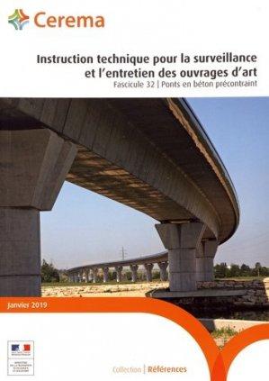 Instruction technique pour la surveillance et l'entretien des ouvrages d'art - Cerema - 9782371803251 -