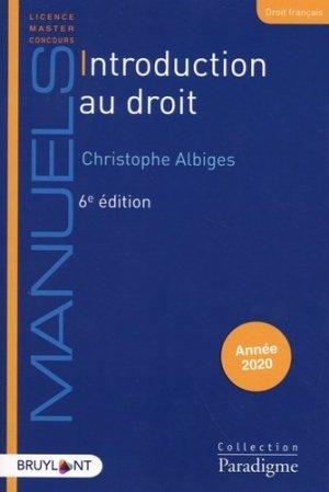 Introduction au droit. 6e édition - Bruylant - 9782390132592 -