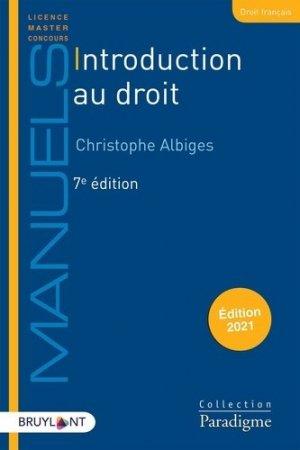 Introduction au droit. 7e édition - Bruylant - 9782390132820 -