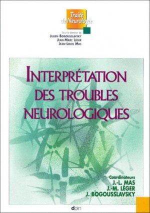Interprétation des troubles neurologiques - doin - 9782704009268