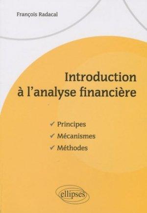 Introduction à l'analyse financière - Ellipses - 9782729851996 -