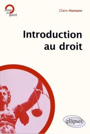 Introduction au droit - Ellipses - 9782729874582 -