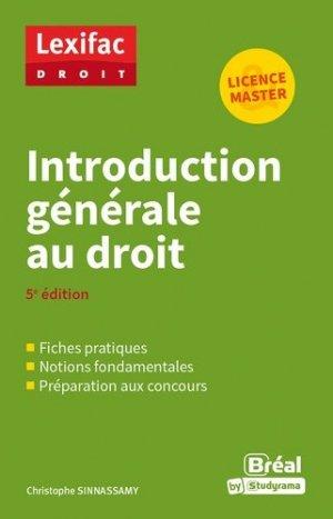 Introduction générale au droit - Bréal - 9782749539836 -