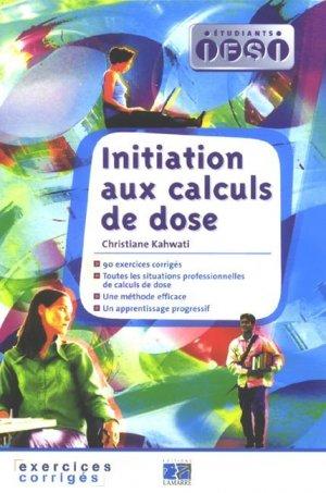 Initiation aux calculs de dose - lamarre - 9782757300879 -