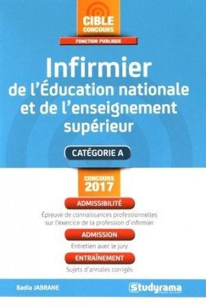 Infirmier de l'Education nationale et de l'enseignement supérieur - Studyrama - 9782759032723 -