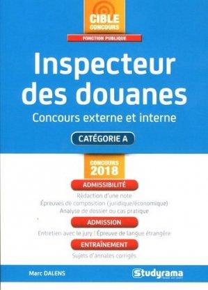 Inspecteur des douanes - Studyrama - 9782759036004 -