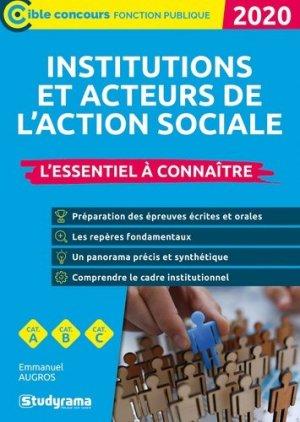Institutions et acteurs du social. Essentiel à connaître, Edition 2020 - Studyrama - 9782759042135 -