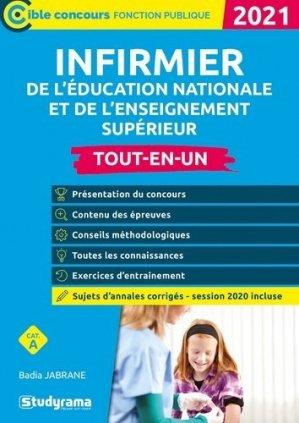 Infirmier de l'Education nationale et de l'enseignement supérieur. Edition 2021 - studyrama - 9782759044931 -