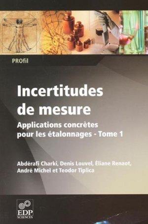 Incertitudes de mesure - Tome 1 - edp sciences - 9782759805945 -