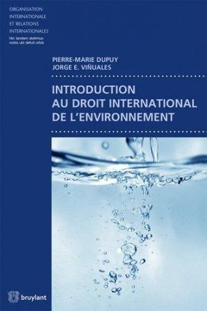 Introduction au droit international de l'environnement - bruylant - 9782802742135 -